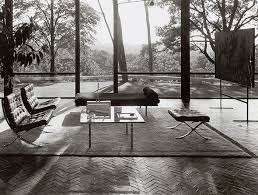 ludwig mies van der rohe barcelona. Ludwig Mies Van Der Rohe\u0027s Barcelona Collection In Philip Johnson\u0027s Glass House New Canaan Rohe M