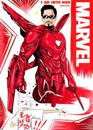 I am iron man | Iron man, Superhero, Anime sketch