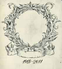 oval frame tattoo design. Colorful Oval Tattoo Frame Images - Picture Design .