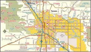 Tucson Elevation Chart Declarative Printable Map Of Tucson Az Garza S Blog