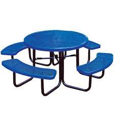 round school table. Portable Blue Diamond Commercial Round Picnic Table Round School Table Y