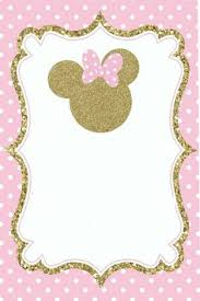 minnie mouse invitation template 24 convites da minnie rosa com estampas delicadas modelos de