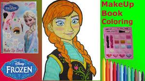 frozen make up artist book anna makeup toy set tutorial for kids you