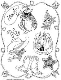 Small Picture FREEBIE Coloring page for Armadillo Rodeo by Jan Brett