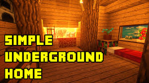 Houses Built Underground Minecraft Simple Underground House Base Tutorial Xbox Pc Pe Ps3