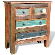 Retro Bedroom Furniture Vintage Chest Of Drawers Retro Reclaimed Wood Bedroom