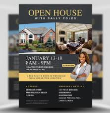 business open house flyer template real estate flyer templates for photoshop flyerheroes