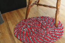 braided rag rug no sew