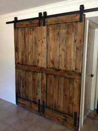 Making A Barn Door Knotty Alder Double Sliding Barn Door Double Sliding Barn Doors