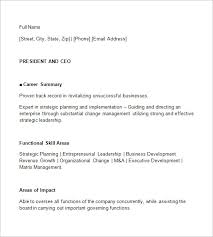Ceo Resume Template Mesmerizing CEO Resume Template 48 Free Samples Examples Format Download