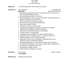 Great Resume Sample Bartender Featuring Good Summary And Good ...