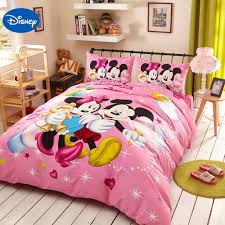Mickey And Minnie Mouse Bedroom Decor Online Get Cheap Minnie Mouse Bedding Set Aliexpresscom