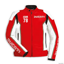 details about ducati dainese iom isle of man leather jacket leather jacket red new 2018