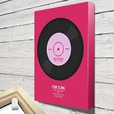 personalised vinyl record personalised wall art on wall art using vinyl records with personalised vinyl record personalised wall art canvas wall art print