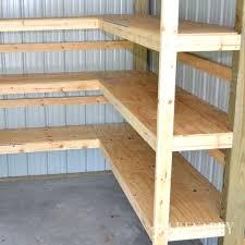 storage shelving ideas corner shelves for garage or pole barn storage basement storage shelving ideas