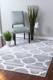 moroccan trellis gray area rug large pattern