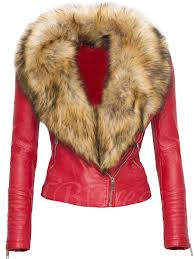 faux fur collar zip up womens jacket jpg