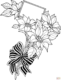 Christmas Flower Coloring Pages Viettiinfo