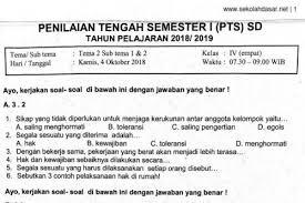 Jun 09, 2021 · soal pat bhs. Soal Ulangan Pts Kelas 4 Tema 2 Subtema 1 2 Sekolahdasar Net