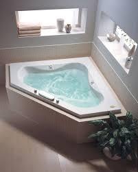 jacuzzi esp6060wcr1hxa almond 60 x 60 espree corner whirlpool bathtub with 12 jets heater pneumatic controls center drain and right pump faucet com