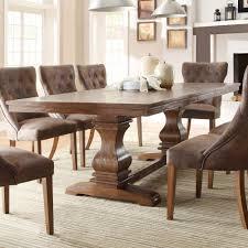 richard moreno double pedestal extending dining table