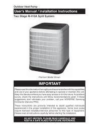 Nordyne R 410a Users Manual Manualzz Com