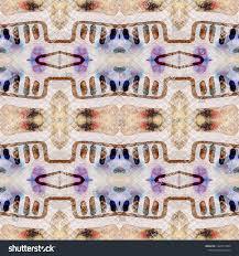 Tibetan Fabric Design Tibetan Fabric Seamless Tie Dye Ornament Stock Illustration