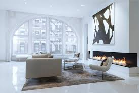 abstract canvas art above the fireplace