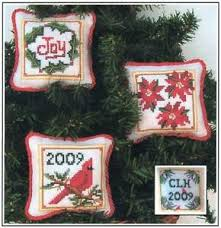 Christmas Charts 2009 Prairie Grove Peddler Christmas Ornaments 4 Cross Stitch