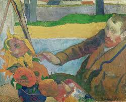 van painting van gogh painting sunflowers by paul gauguin