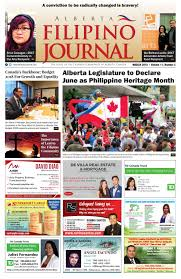 Alberta Filipino Journal March 2018 Issue By Alberta Filipino