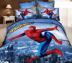3d spiderman kids cartoon bedding comforter sets bedroom children queen size bedspread bed in a bag sheets duvet cover bedsheets bedsheet home texile brand
