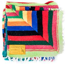 colorful yucatÁn serape mexican blanket  throw  h u n t e d f o x