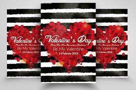 Valentines Flyers Happy Valentines Day Flyers By Designhub Thehungryjpeg Com