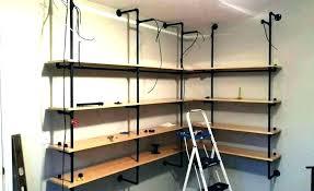 corner pipe shelves plumbing shelf freestanding bookshelf smart galvanized freestandin corner pipe shelves