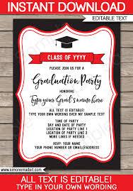 Graduation Party Senior Announcements Invitations Graduation