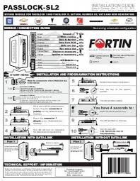 passlock sl2 guide d installation fortin electronic systems