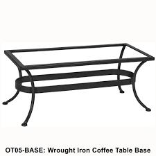 ow lee standard wrought iron rectangular coffee table base ot05 legs
