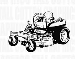 zero turn lawn mower clipart. zero turn commercial lawnmower vinyl decal - #jb034 lawn mower clipart