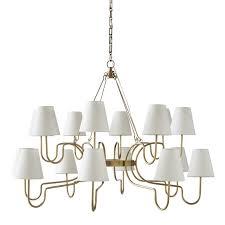 lucio chandelier large antique brass