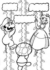 Luigi And Toad Saving Princess Peach Mario Coloring Page Mario