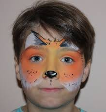 tiger face painting design fox face painting