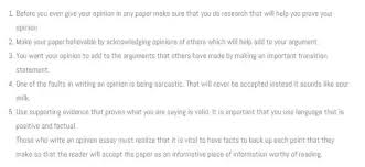 Opinion Essay Samples How To Write A Good Personal Opinion Essay Quora