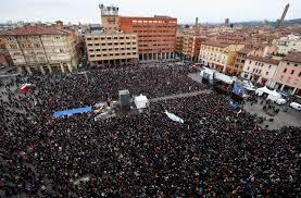 Sardine a Bologna, 40mila persone al