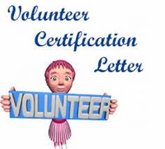 Volunteer Certification Letter Free Letters