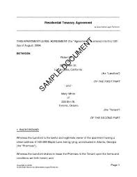 sample rental agreement letter residential rental lease usa templates agreements