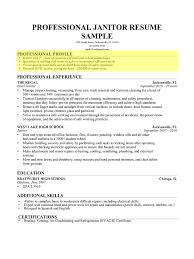 Janitor Professional Profile