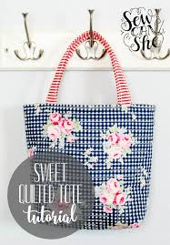 Sweet Quilted Tote {free sewing tutorial} — SewCanShe | Free ... & Sweet Quilted Tote {free sewing tutorial} Adamdwight.com