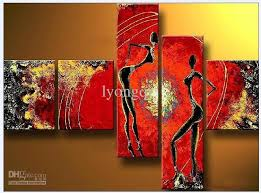 25 30cm 3 20 60cm 2 5pcs set allow mix order the modern abstract figure oil paintings framed 100 hand painted a beautiful artwork