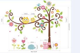 l cute owl tree l amp stick wall decal kindergarten 64 58in 162 147cm children room decor 3d pv decorating stickers decorating stickers walls from